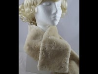 Victoria Ann Cream Faux Fur Stole